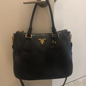 🛑SOLD🛑 100% Authentic Prada Purse, Black w/Gold